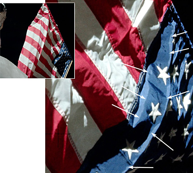 Мокрый флаг Аполлона-17