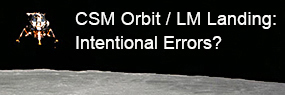 CSM LM Orbit