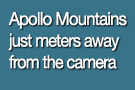 Apollo Mountains meters away