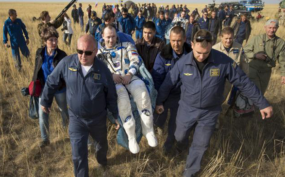 Astronauts carried following space flight