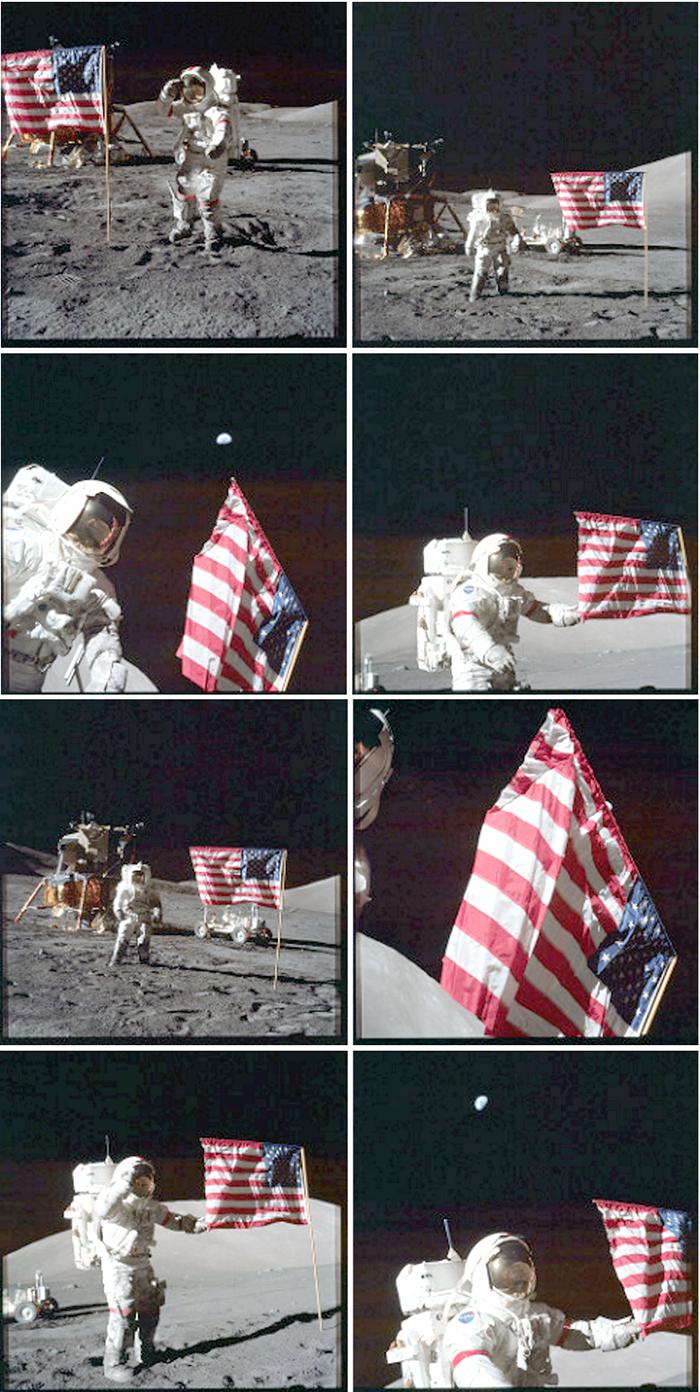 Аполлон 17 флагов пикс