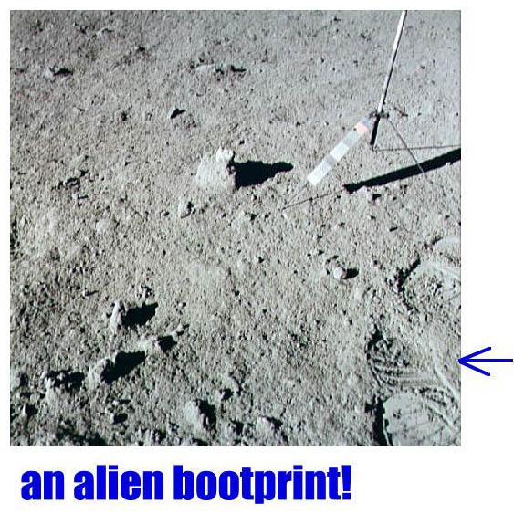 hoax moon landing footprint - photo #1