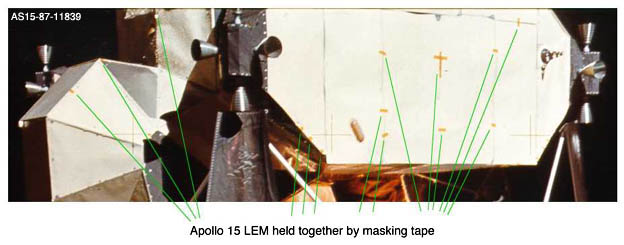 adhesive tape used on apollo 15